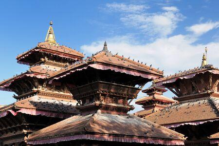 kathmandu: Temples at Durbar Sqaure in Kathmandu city, Nepal