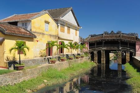 Hoi An city - highlight of any trip to Vietnam. Japanese covered brigde - UNESCO site.  Vietnam Standard-Bild