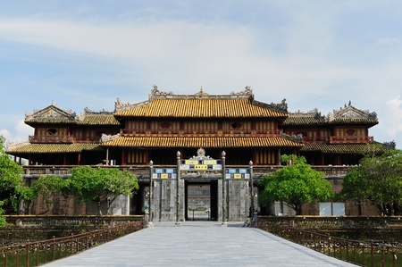 emperors: Emperor palace complex in Hue, Vietnam Stock Photo
