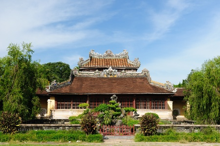 Emperor palace complex in Hue, Vietnam Stock Photo