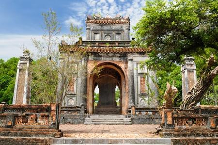 hue: Vietnam, ancient Tu Duc royal tomb near Hue Stock Photo