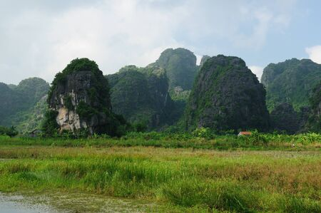 Tam Coc Natioanl Park, Karst formation in the water, Most spectacular scenery in Vietnam photo
