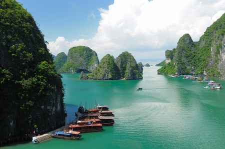 Vietnam - Halong Bay National Park (UNESCO). The most popular place in Vietnam.