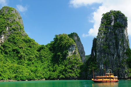 Vietnam - Halong Bay National Park. The most popular place in Vietnam. photo