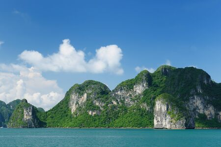 Vietnam - Halong Bay National Park (UNESCO). The most popular place in Vietnam. photo