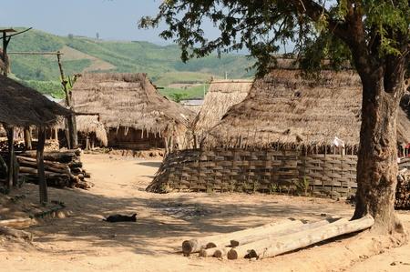 lao: Lao - sc�ne rurale dans le village pr�s de Muang Sing