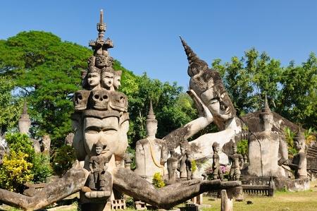 Laos, Xieng Khuan - buddha park near Vientiane. Stock Photo - 12100337