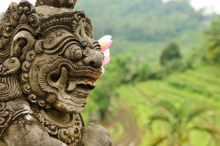 Indonesia - old hindu architecture on Bali island photo