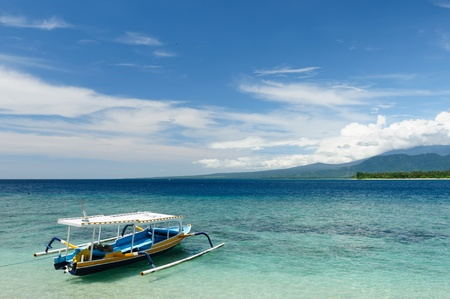 Gili islands near the Bali island. The most populat tourist destination in Indonesia, Nusa tenggara. photo