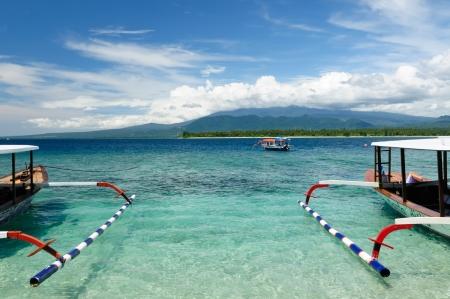 Gili Inseln in der Nähe der Insel Bali. Die meisten populat Touristenziel in Indonesien, Nusa Tenggara. Standard-Bild - 12334517