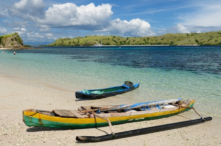 nusa: Komodo National Park - isladnds paradise for diving and exploring. The most populat tourist destination in Indonesia, Nusa tenggara.
