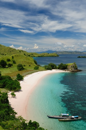 komodo island: Komodo National Park - paradise islands for diving and exploring. The most populat tourist destination in Indonesia, Nusa tenggara. Stock Photo