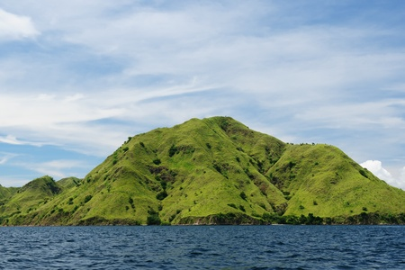 komodo: Komodo National Park - paradise islands for diving and exploring. The most populat tourist destination in Indonesia, Nusa tenggara. Stock Photo
