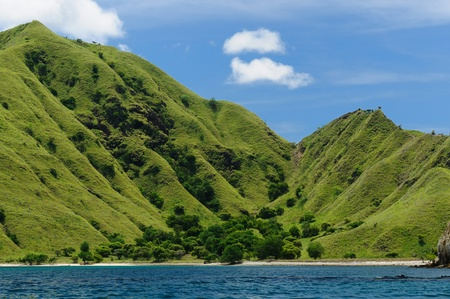 Komodo National Park - paradise islands for diving and exploring. The most populat tourist destination in Indonesia, Nusa tenggara. Stock Photo