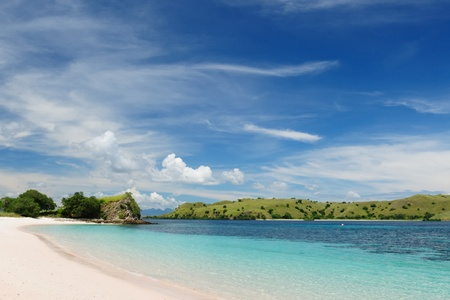 Komodo National Park - paradise islands for diving and exploring. The most populat tourist destination in Indonesia, Nusa tenggara. Standard-Bild