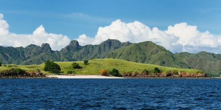 Komodo National Park - paradise islands for diving and exploring. The most populat tourist destination in Indonesia, Nusa tenggara. Stock Photo - 12334545