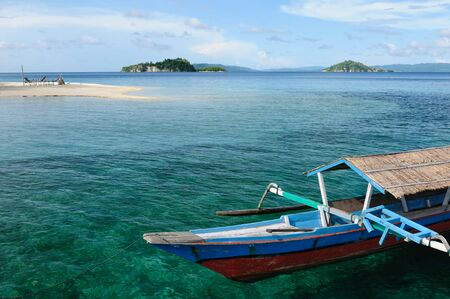 sulawesi: Togean islands on the gulf of Teluk in the central Sulawesi. The most populat tourist dive destination in Indonesia,
