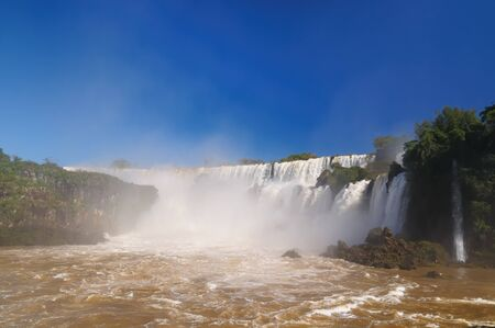 The largest waterfalls on the Earth, located on the border Brazil, Argentina, and Paraguay  Iguazu Falls, South America Stock Photo - 12604070