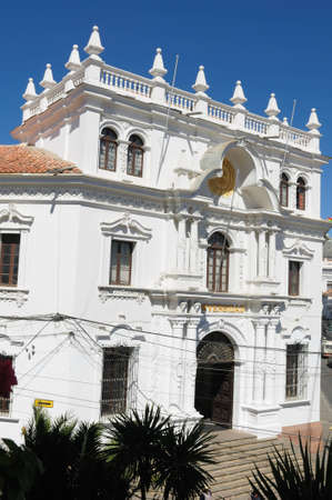evident: The capital city of Bolivia - Sucre has a rich colonial heritage, evident in its buildings, street-scapes and numerous churches.