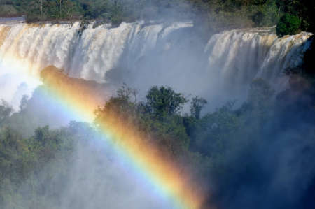The largest waterfalls on the Earth, located on the border Brazil, Argentina, and Paraguay. Iguazu Falls, South America photo