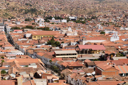 evident: The capital city of Bolivia - Sucre  white city  has a rich colonial heritage, evident in its buildings, street-scapes and numerous churches