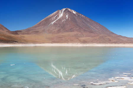 vulcano: Bolivia - the most beautifull Andes in South America  The surreal landscape is nearly treeless, punctuated by gentle hills and volcanoes near Chilean border  The picture present lagoona Verde