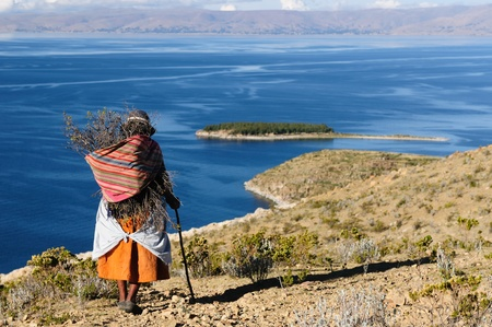 Bolivia - Isla del Sol on the Titicaca lake, the largest highaltitude lake in the world  3808m  This island photo