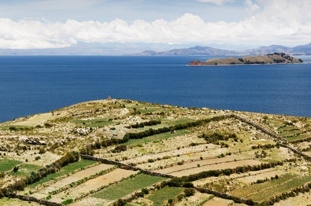 Bolivia - Isla del Sol on the Titicaca lake, the largest highaltitude lake in the world  3808m   This island Stock Photo - 12879180