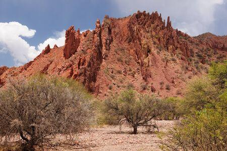 Bolivia - las más bellas de los Andes en América del Sur paisaje Tupiza están llenos de roca de color, colinas, montañas y el cañón Foto de archivo - 12879977
