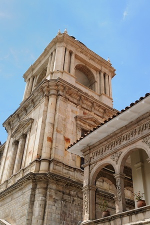 murillo: La Paz - the governmental capital of Bolivia  Cityscape - Plaza Pedro De Murillo, main squer in town - the Cathedral