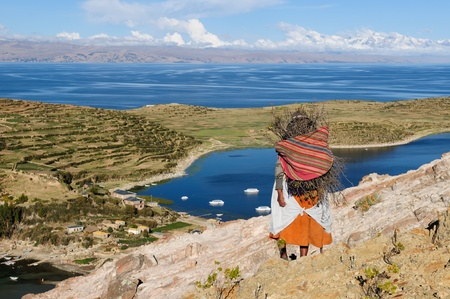 Bolivia - Isla del Sol on the Titicaca lake, the largest highaltitude lake in the world  3808m  This island