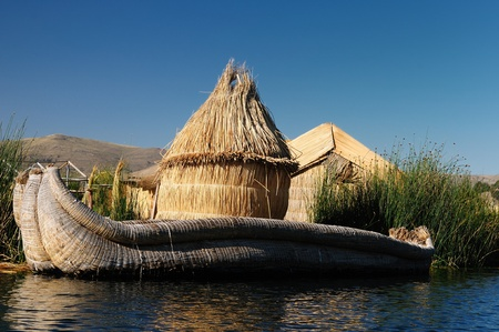 buoyant: Peru, floating Uros islands on the Titicaca lake, the largest highaltitude lake in the world  3808m   Theyre built using the buoyant totora reeds that grow abundantly in the shallows of the lake
