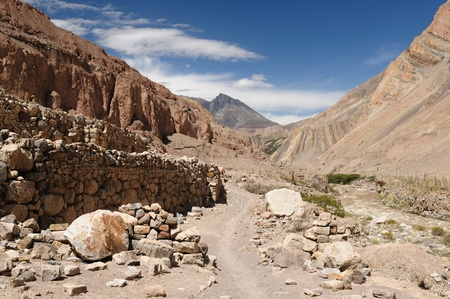 Peru, Cotahuasi canyon  The wolds deepest canyon  The canyon also shelters several remote traditional rural settlements  View on the Inca ruins photo
