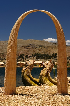 buoyant: Peru, floating Uros islands on the Titicaca lake, the largest highaltitude lake in the world (3808m). Theyre built using the buoyant totora reeds that grow abundantly in the shallows of the lake.