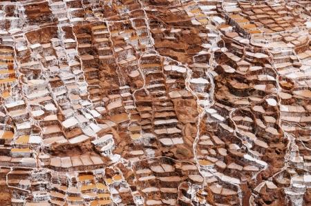 sacred valley: Peru, Salinas de Maras, Pre Inca traditional salt mine  salinas