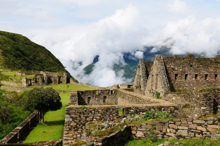 Peru, Choquequirau (mini - Machu Picchu), remote, spectacular the Inca ruins near Cuzco Stock Photo - 13769857