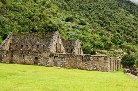 Peru, Choquequirau (mini - Machu Picchu), remote, spectacular the Inca ruins near Cuzco photo