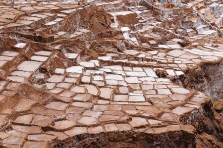 sacred valley: Peru, Salinas de Maras, Pre Inca traditional salt mine (salinas).