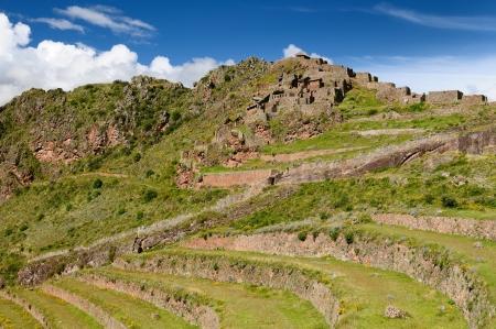 pisaq: Peru, Pisac (Pisaq) - Inca ruins in the sacred valley in the Peruvian Andes. The picture presents