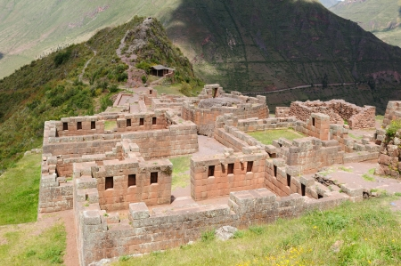 pisaq: Peru, Pisac (Pisaq) - Inca ruins in the sacred valley in the Peruvian Andes. The picture presents well preserved temples