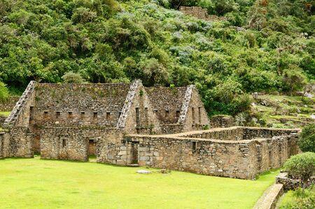 Peru, Choquequirau (mini - Machu Picchu), remote, spectacular the Inca ruins near Cuzco Stock Photo - 13821219