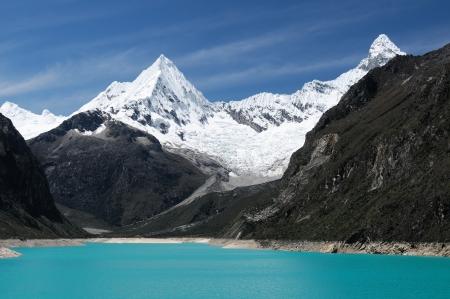 cordillera: Peru, Beautiful Cordillera Blanca mountain. The picture presents lagoon Paron