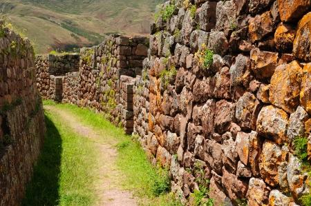 pisaq: Peru, Pisac  Pisaq  - Inca ruins in the sacred valley in the Peruvian Andes  Stock Photo