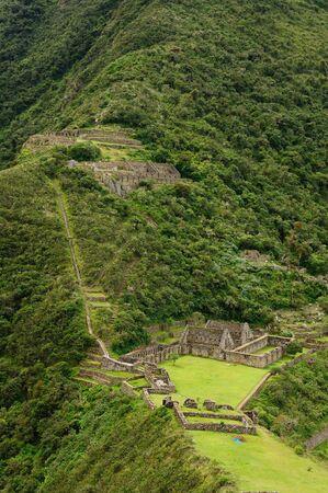 Peru, Choquequirau  mini - Machu Picchu , remote, spectacular the Inca ruins near Cuzco photo