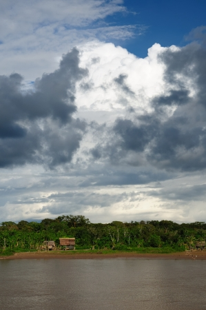Peru, Peruvian Amazonas landscape  The photo present Maranon river landscape photo
