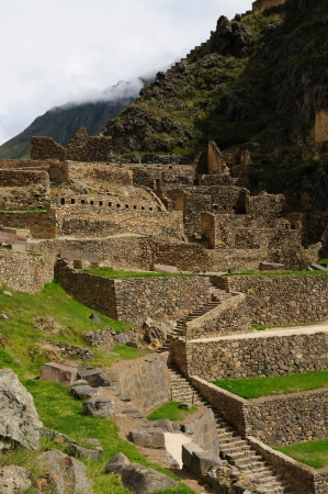 Peru, Pisac (Pisaq) - Inca ruins in the sacred valley in the Peruvian Andes