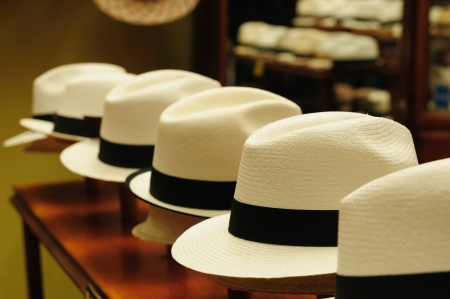 Ecuador - Panama Hats,  is a traditional brimmed hat made in Cuenca photo