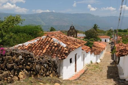 santander: Colombia, Santander, View of the colonial village of Guane, near Barichara