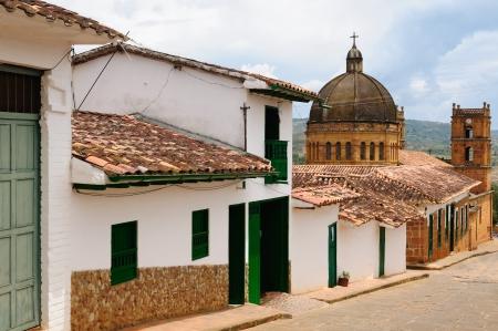 santander: Colombia, Santander, View of the colonial village of Barichara, near San Gil