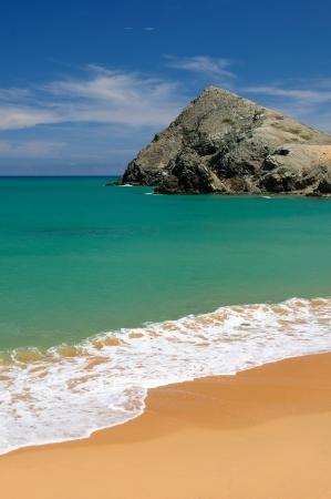 Colombia, wild coast of the Caribbean sea near Capurgana resort where the Darien jungle is encountering the beach Stock Photo - 17201128